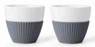 Viva Scandinavia Чайный стакан Anytime (300 мл), 9.4х8.5 см, 2 шт., серый