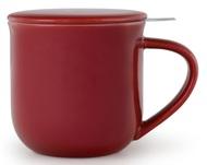 Viva Scandinavia Чайная кружка с ситечком Minima (380 мл), 9.5х9.3 см, бордовая