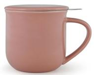 Viva Scandinavia Чайная кружка с ситечком Minima (380 мл), 9.5х9.3 см, розовая
