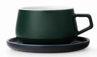Viva Scandinavia Чайная чашка с блюдцем Ella (300 мл), темно-зеленая