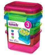 Sistema Набор контейнеров Lunch (400 мл), 11.5х9 см, 3 шт