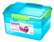 Sistema Контейнер двухуровневый с разделителями Lunch (2.3 л), 19.7х15.8х11.5 см