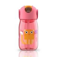 Zoku Бутылочка детская (415 мл), с силиконовой соломинкой, розовая