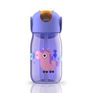 Zoku Бутылочка детская (415 мл), с силиконовой соломинкой, фиолетовая