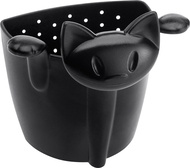Koziol Емкость для заваривания чая Miaou, 7.5х7.3х6.1 см, черная