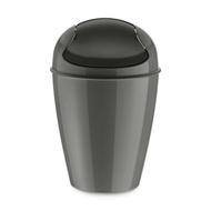 Koziol Корзина для мусора с крышкой Del M (12 л), темно-серая