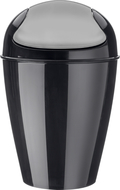 Koziol Корзина для мусора с крышкой Del M (12 л), черная