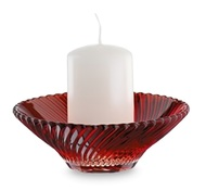 Nachtmann Подсвечник красный со свечой Crystal Christmas, 12.5 см