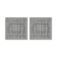 Nachtmann Набор квадратных блюд Square, 21х21 см, серый, 2 шт