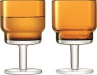 LSA International Набор бокалов для вина Utility (220 мл), охра, 2 шт