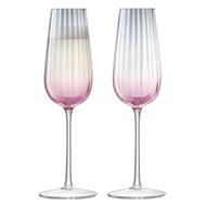 LSA International Набор фужров для шампанского Dusk (250 мл), розово-серый, 2 шт