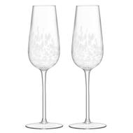 LSA International Набор фужров для шампанского Stipple (250 мл), 2 шт