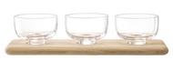 LSA International Набор стеклянных мисок на подставке Serve, 33 см, 4 пр
