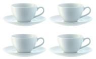 LSA International Набор чашек для эспрессо с блюдцем Dine (100 мл), 4 шт