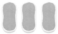 Набор спонжей для ухода за посудой, 10х20 см, серый, 3 шт