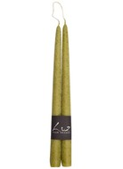 Luz your senses Набор свечей Рустик, 30 см, 2 шт, зеленый