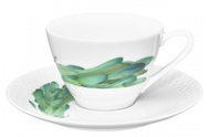 Noritake Чашка чайная с блюдцем Овощной букет. Горчица (210 мл)