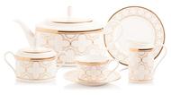 Noritake Сервиз чайный Трефолио, золотой кант, на 6 персон, 21 пр