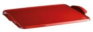Emile Henry Противень керамический для выпечки, 41.7x31.4x3.1 см, гранат