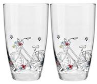 Krosno Набор стаканов для воды Велосипед (450 мл), 2 шт