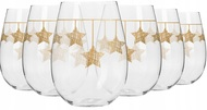 Krosno Набор стаканов для воды Золотые звезды (500 мл), 6 шт