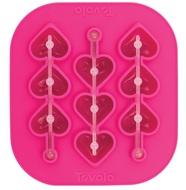 Tovolo Форма силиконовая для льда на палочке Сердечки, 16х15х2 см