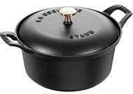 Staub Кастрюля чугунная, круглая (кокот) Винтаж, 20 см, черная