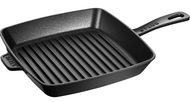 Staub Сковорода-гриль квадратная, 30х30 см, черная