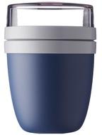 Mepal Ланч-бокс двухкамерный Yoghurtbeker, темно-синий