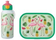 Mepal Набор детский ланч-бокс и бутылка для воды Campus (pu+lb), фламинго, 2 пр