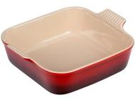 Le Creuset Керамическое блюдо для запекания Heritage квадратное (91005723060100), 23 см, вишневое