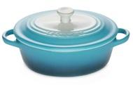 Le Creuset Керамическая кокотница овальная (61902126820003), 12 см, голубая (Ombre Blue)