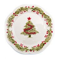 Bordallo Pinheiro Тарелка закусочная Новый год, 21 см