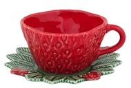 Bordallo Pinheiro Чашка чайная с блюдцем Земляника (300 мл)