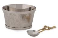 Michael Aram Чаша с ложкой Плющ и дуб, 10 см