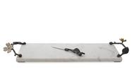 Michael Aram Доска для сыра с ножом Цветок кизила, 47х14.6х6.4 см