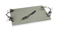 Michael Aram Доска для сыра с ножом Цветок кизила, 50х25.4х6.4 см см
