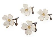 Michael Aram Набор колец для салфеток Цветок кизила, 4 см, 4 шт