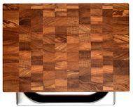Woodeed Доска разделочная торцевая из дуба с контейнером, большая, 40х28х6.5 см, дуб