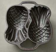 Lodge Форма для выпечки Ананас чугунная, 30х30 см, черная