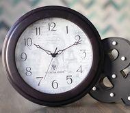 Часы Je T'aime, 35 см, черные