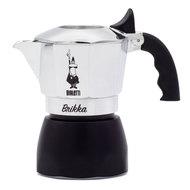Bialetti Гейзерная кофеварка Brikka 2020 с клапаном для пенки (90 мл), на 2 чашки