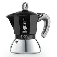 Bialetti Гейзерная кофеварка Moka Induction, на 4 чашки, черная