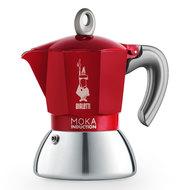 Bialetti Гейзерная кофеварка Moka Induction, на 4 чашки, красная