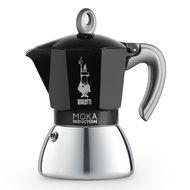 Bialetti Гейзерная кофеварка Moka Induction, на 6 чашек, черная