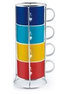 Bialetti Набор чашек для капучино Multicolor, 4 шт.