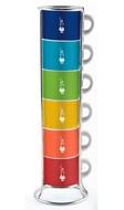 Bialetti Набор чашек для эспрессо Multicolor, 6 шт.