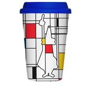 Bialetti Кружка Take Away Mondrian (300 мл)