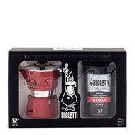 Bialetti Подарочный набор Moka Express Red + Caffe Roma