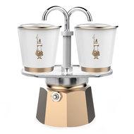 Bialetti Гейзерная кофеварка Mini Express (90 мл) на 2 чашки, золотая